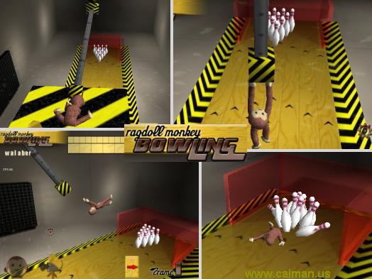 Ragdoll Monkey Bowling
