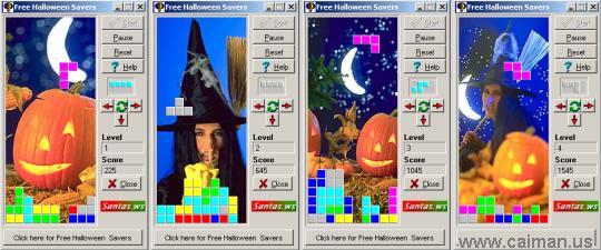 Free Halloween Tetris