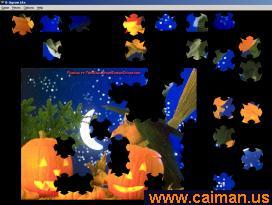 Free Witch/Pumpkin Jigsaw Puzzle