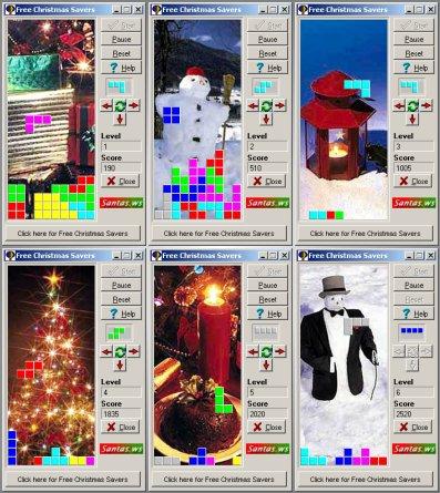Free Christmas Tetris