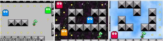 Yoshi in Pacman's World