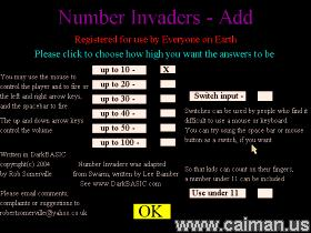 Number Invaders - Add