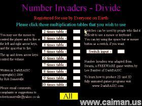 Number Invaders - Divide