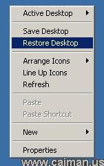 Restore Desktop