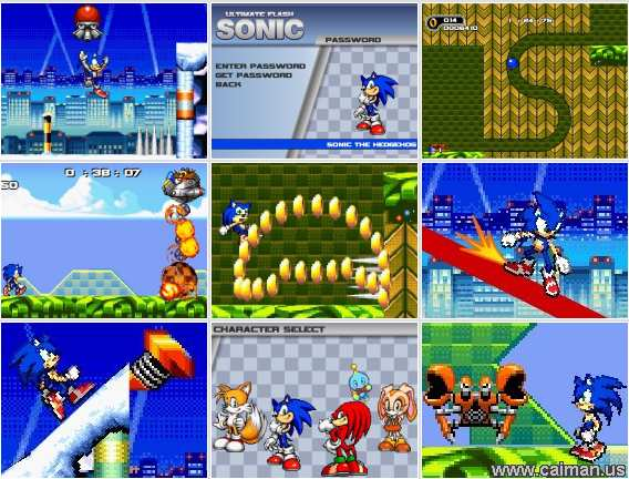sonic games flash