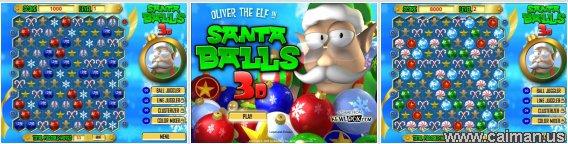 Santa Balls 3D