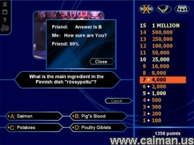 caiman free games: who wants to be a millionaire?milika., Powerpoint templates