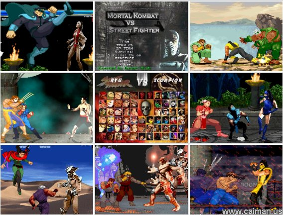 Mini arcade games street fighter